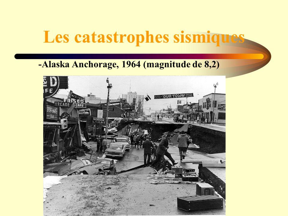 Les catastrophes sismiques -Alaska Anchorage, 1964 (magnitude de 8,2)