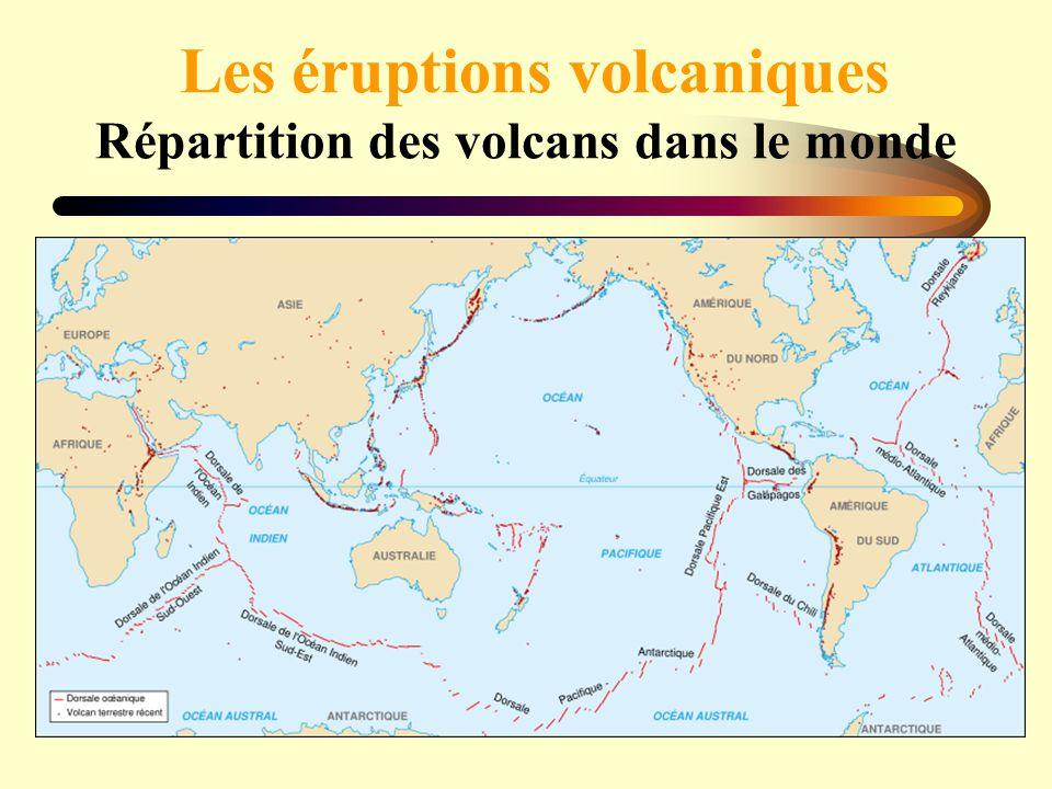 Les éruptions volcaniques Répartition des volcans dans le monde