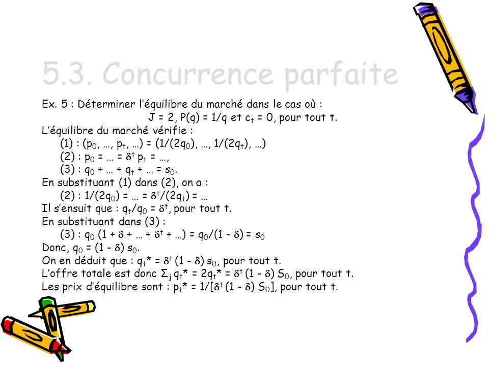 5.3.Concurrence parfaite Ex.