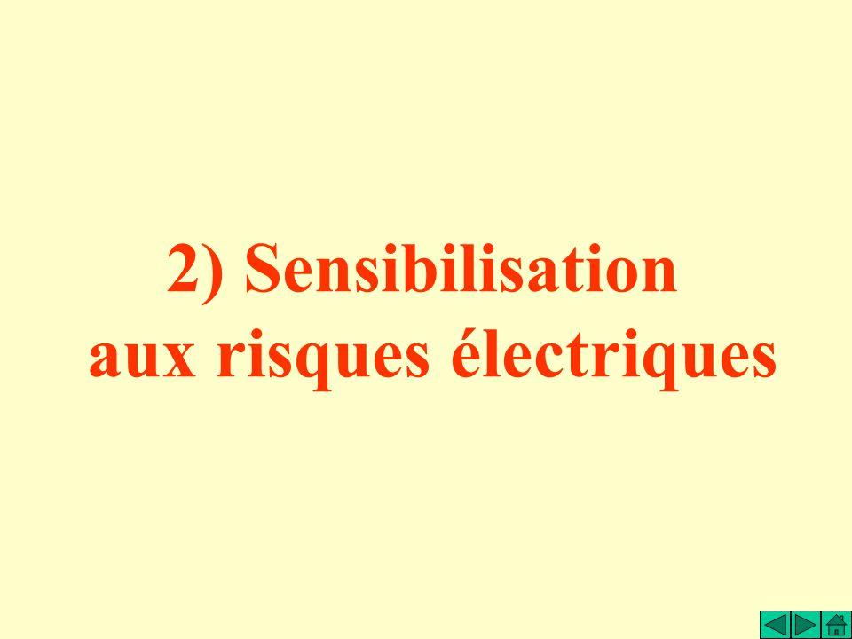 2) Sensibilisation aux risques électriques
