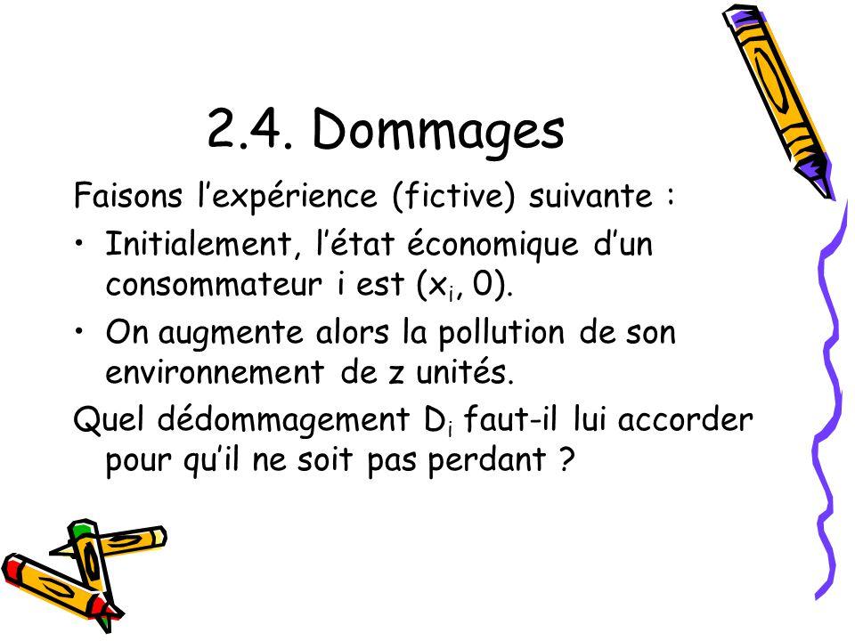 5.2.Calcul dun Eq. économique Ex. 10 : On calcule : Dm = 3z/8 + z/8 = z/2.