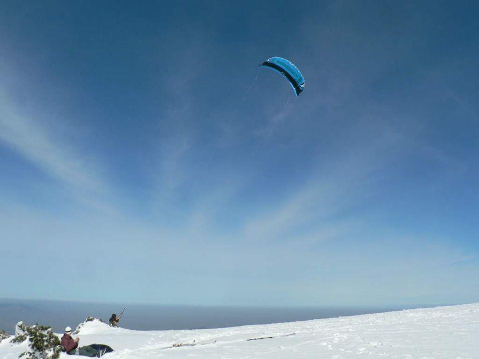 Snow Kite sur le plateau de la Jasserie