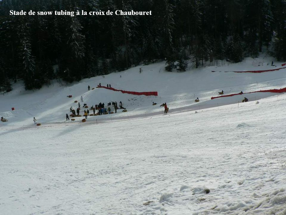 Stade de snow tubing à la croix de Chaubouret