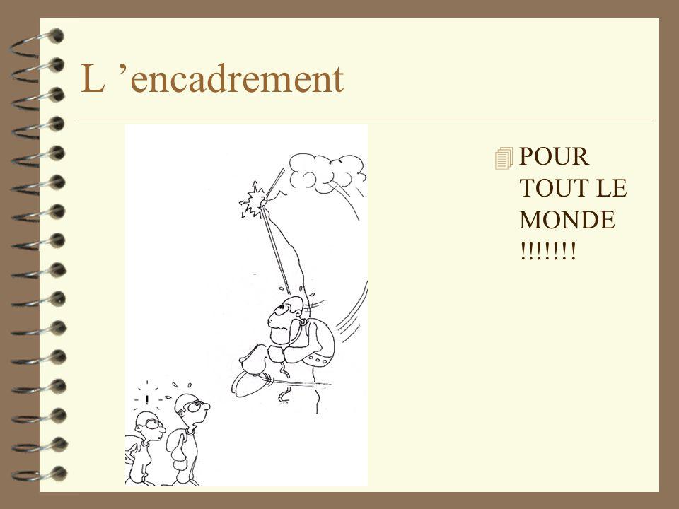 L encadrement 4 POUR TOUT LE MONDE !!!!!!!