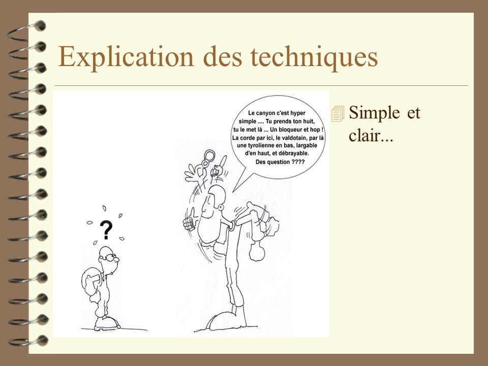 Explication des techniques 4 Simple et clair...