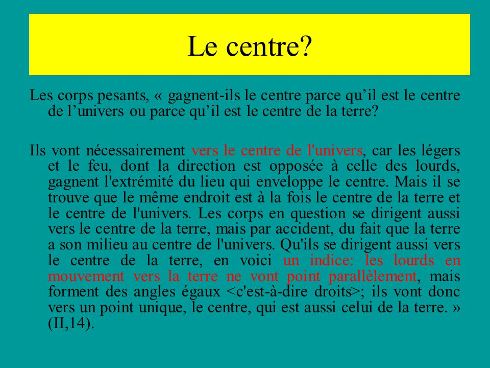 Centre.