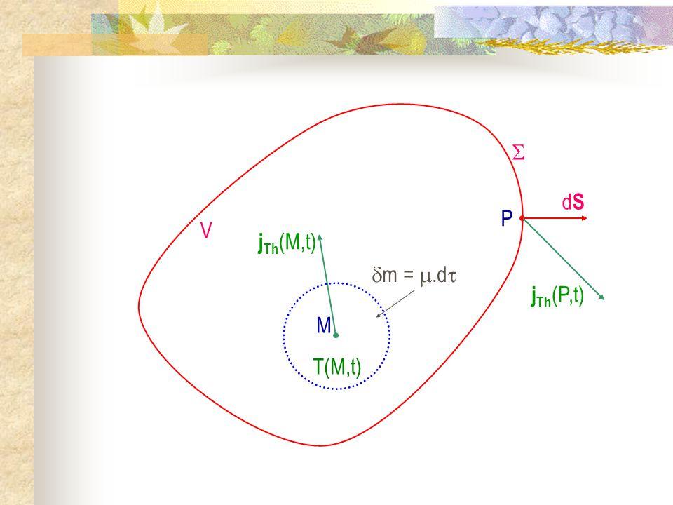 M m =.d j Th (M,t) T(M,t) V dSdS P j Th (P,t)