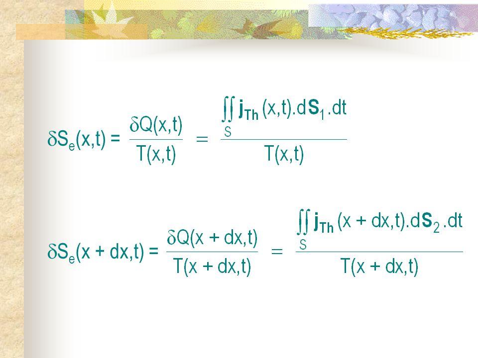 S e (x,t) = S e (x + dx,t) =