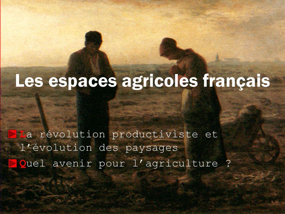 Les espaces agricoles français La révolution productiviste et lévolution des paysages Quel avenir pour lagriculture ?
