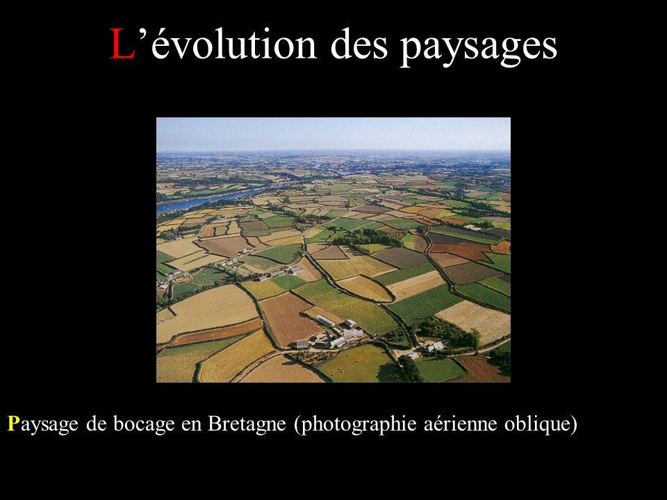 Lévolution des paysages Paysage de bocage en Bretagne (photographie aérienne oblique)