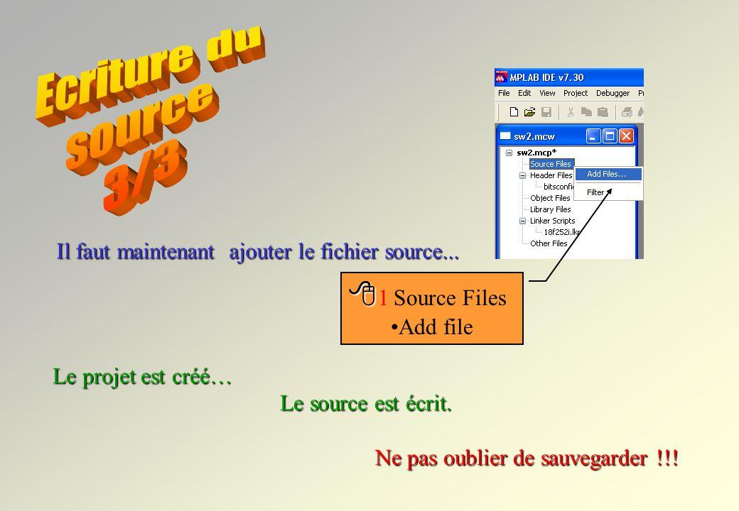 Une * indique que le fichier nest pas sauvegardé...