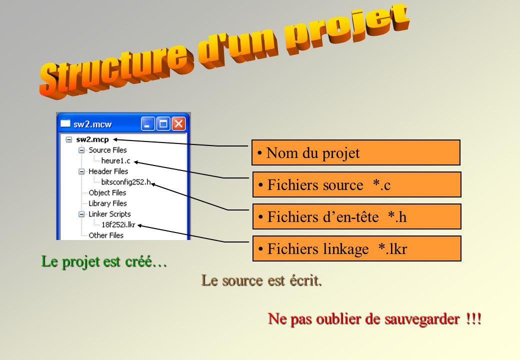 1 Source Files Add file Le projet est créé… Le source est écrit. Ne pas oublier de sauvegarder !!! Il faut maintenant ajouter le fichier source...