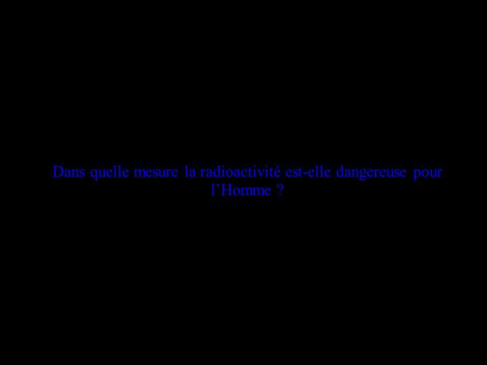 Dans quelle mesure la radioactivité est-elle dangereuse pour lHomme ?