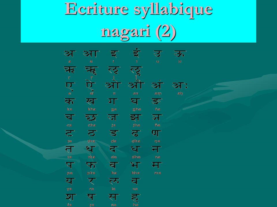 Ecriture syllabique nagari (2)