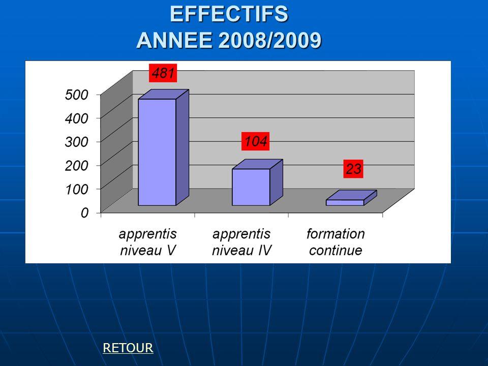 EFFECTIFS ANNEE 2008/2009 RETOUR