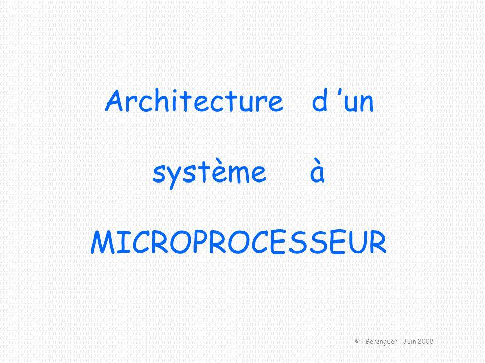 Architecture d un système à MICROPROCESSEUR ©T.Berenguer Juin 2008