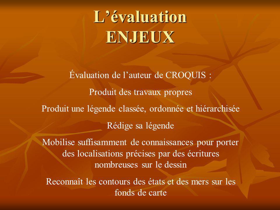 Lévaluation ENJEUX Exemple dune évaluation CRITERIEE