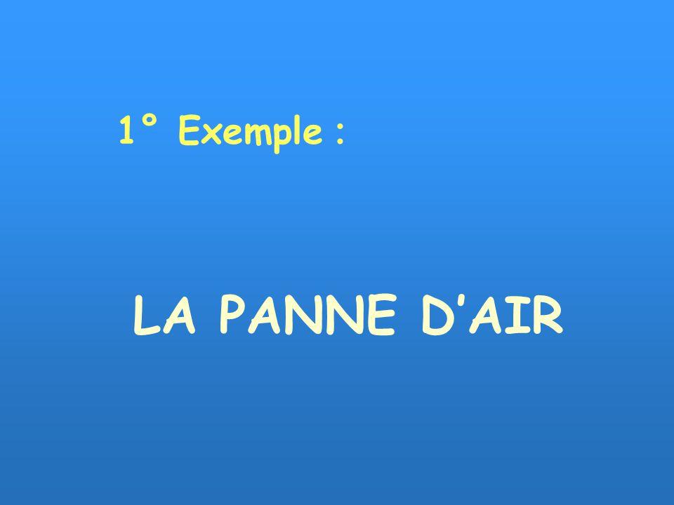 LA PANNE DAIR 1° Exemple :