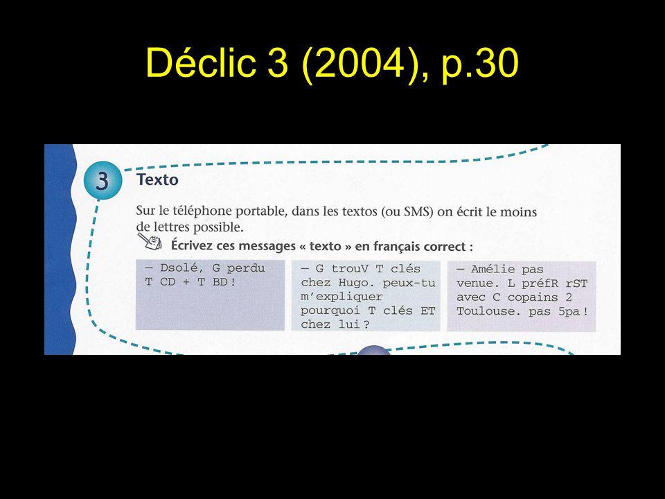 Déclic 3 (2004), p.30