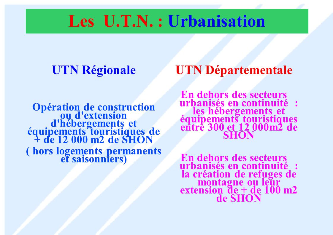 Les U.T.N.