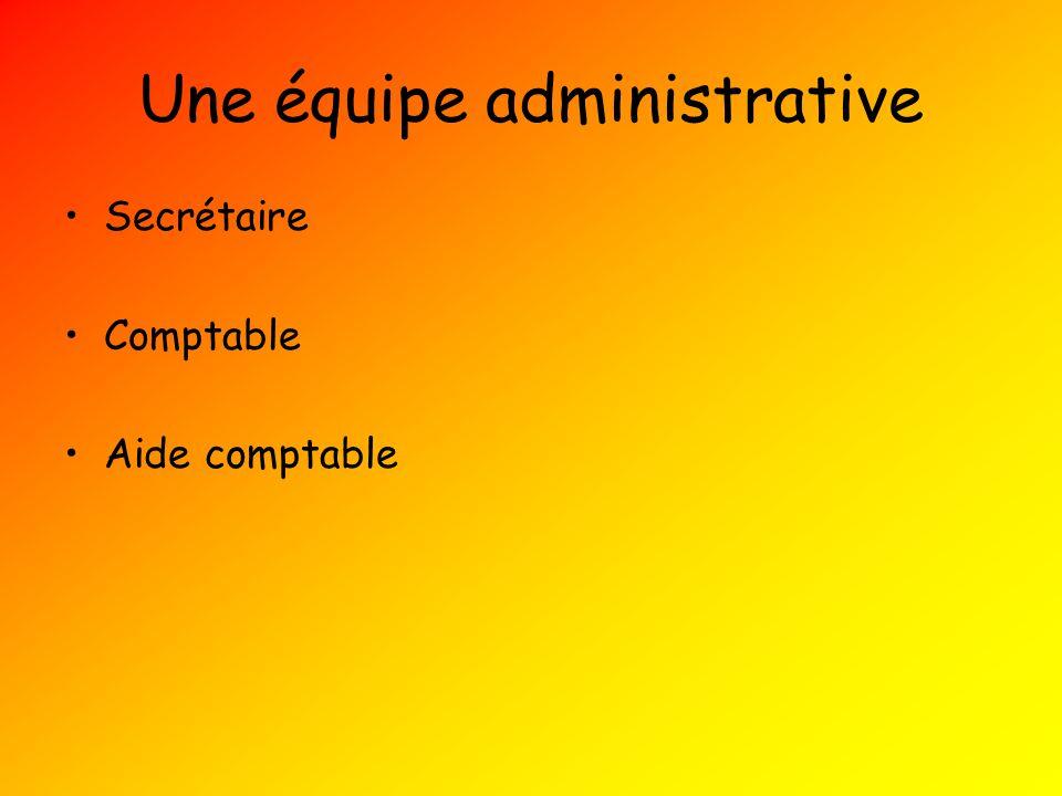 Une équipe administrative Secrétaire Comptable Aide comptable