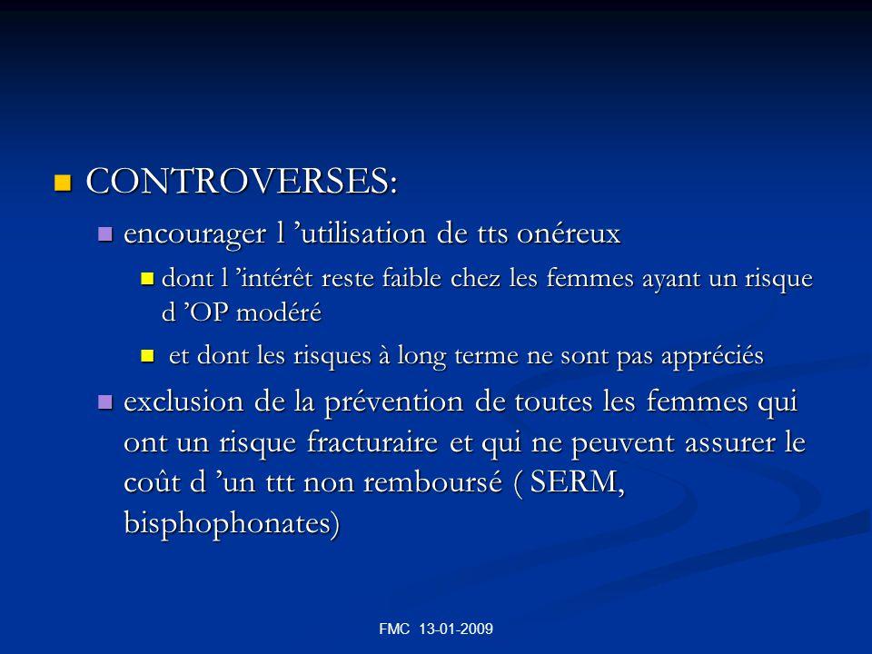 FMC 13-01-2009 CONTROVERSES: CONTROVERSES: encourager l utilisation de tts onéreux encourager l utilisation de tts onéreux dont l intérêt reste faible