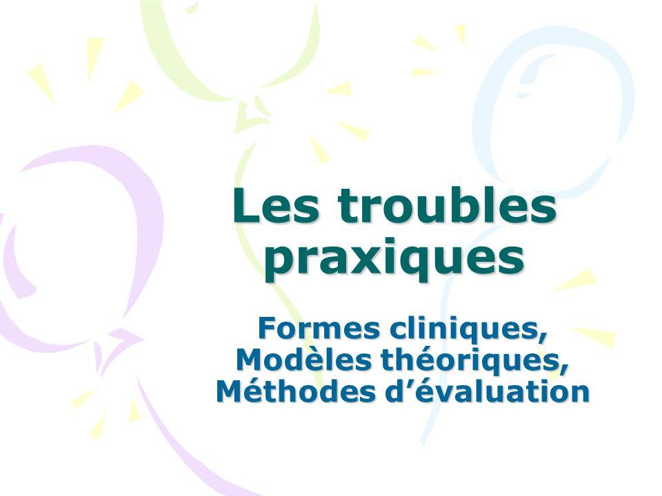 Les troubles praxiques Formes cliniques, Modèles théoriques, Méthodes dévaluation