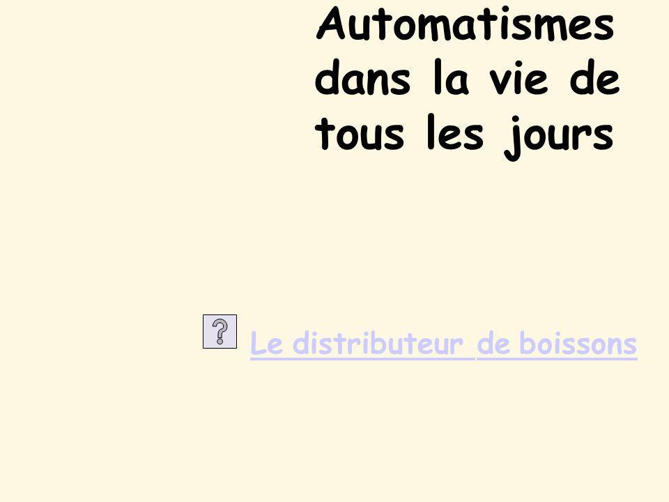 Automatismes dans la vie de tous les jours Ledistributeurdeboissons