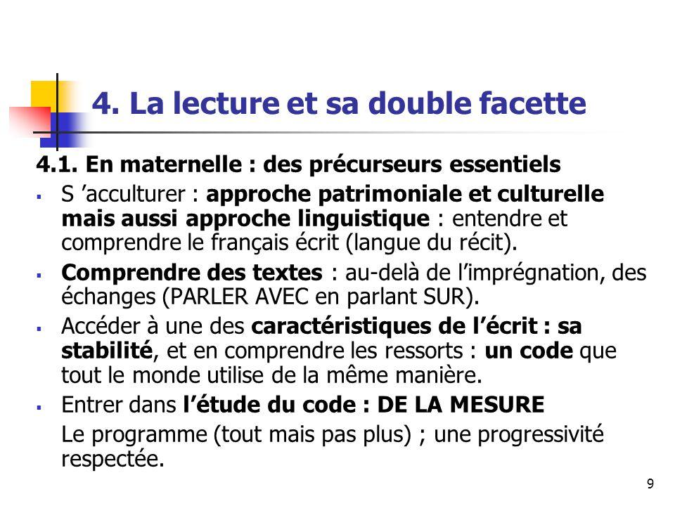 9 4. La lecture et sa double facette 4.1.