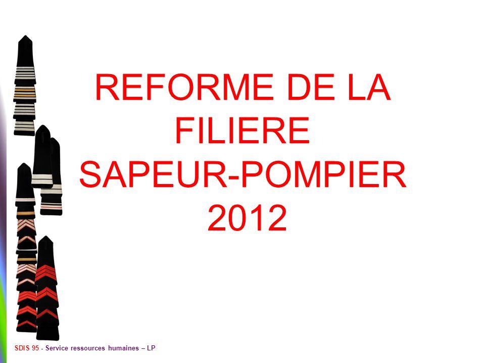 REFORME DE LA FILIERE SAPEUR-POMPIER 2012 SDIS 95 - Service ressources humaines – LP