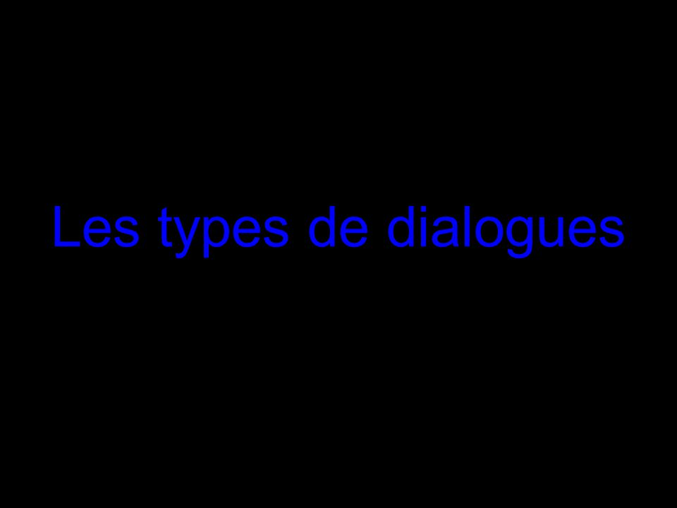 Les types de dialogues