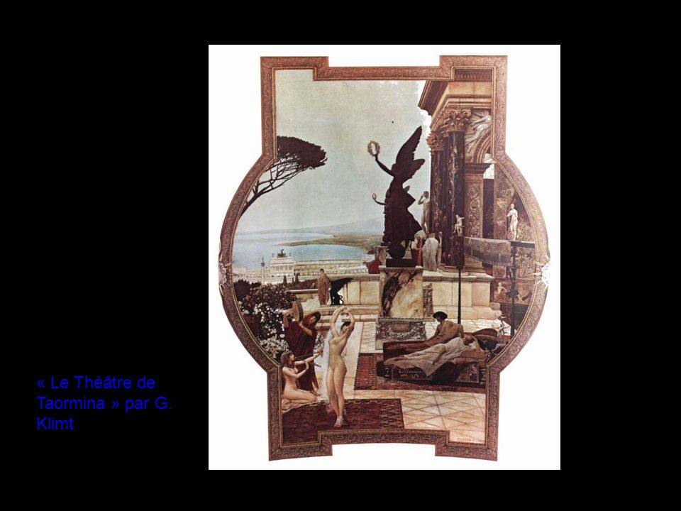 « Le Théâtre de Taormina » par G. Klimt