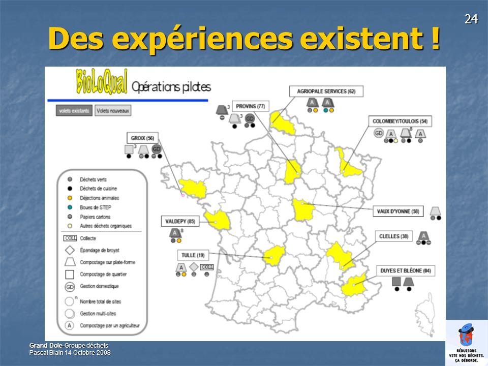 24 Grand Dole-Groupe déchets Pascal Blain 14 Octobre 2008 Des expériences existent !