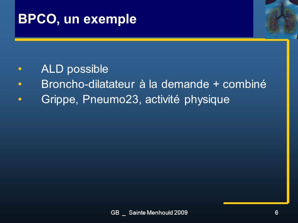 BPCO, un exemple ALD possible Broncho-dilatateur à la demande + combiné Grippe, Pneumo23, activité physique GB _ Sainte Menhould 20096