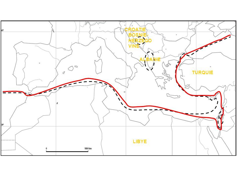 CROATIE BOSNIE- HERZEGO VINE ALBANIE TURQUIE LIBYE