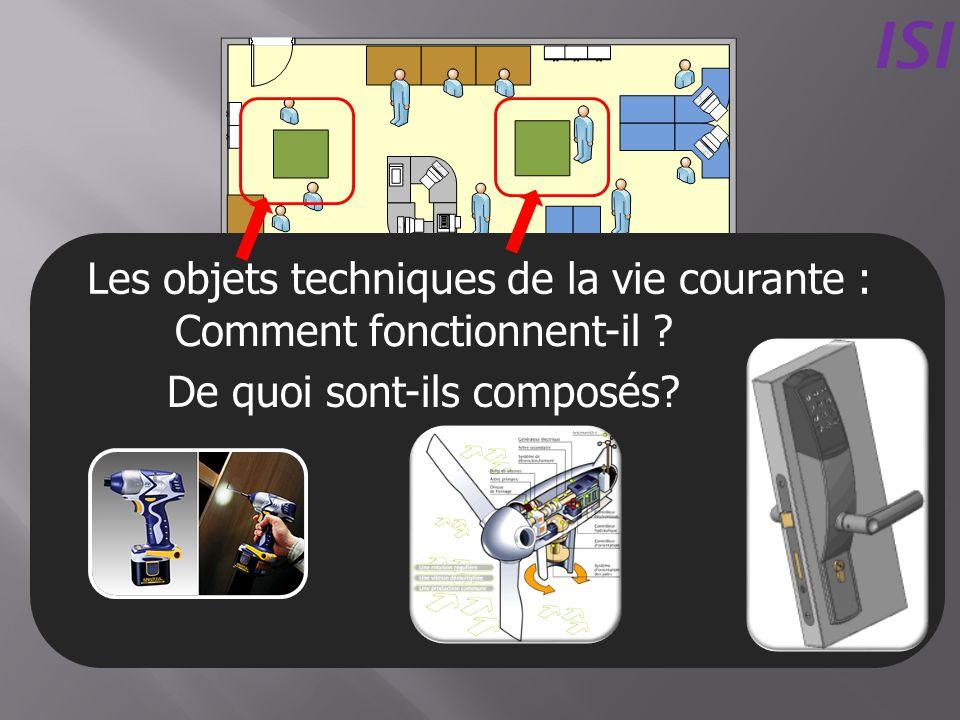 Les objets techniques de la vie courante : ISI De quoi sont-ils composés? Comment fonctionnent-il ?