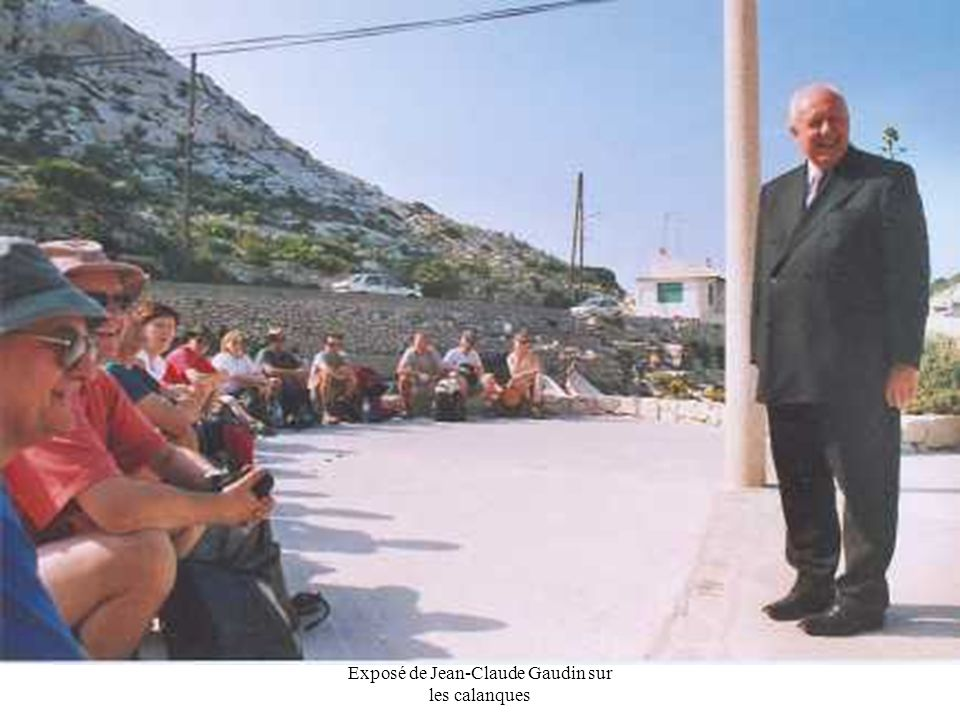 Exposé de Jean-Claude Gaudin sur les calanques