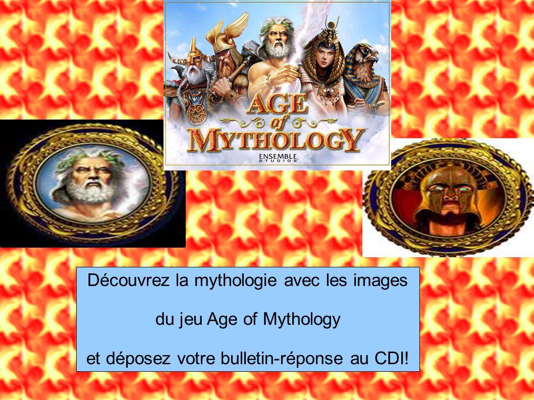 Découvrez la mythologie avec les images du jeu Age of Mythology et déposez votre bulletin-réponse au CDI!