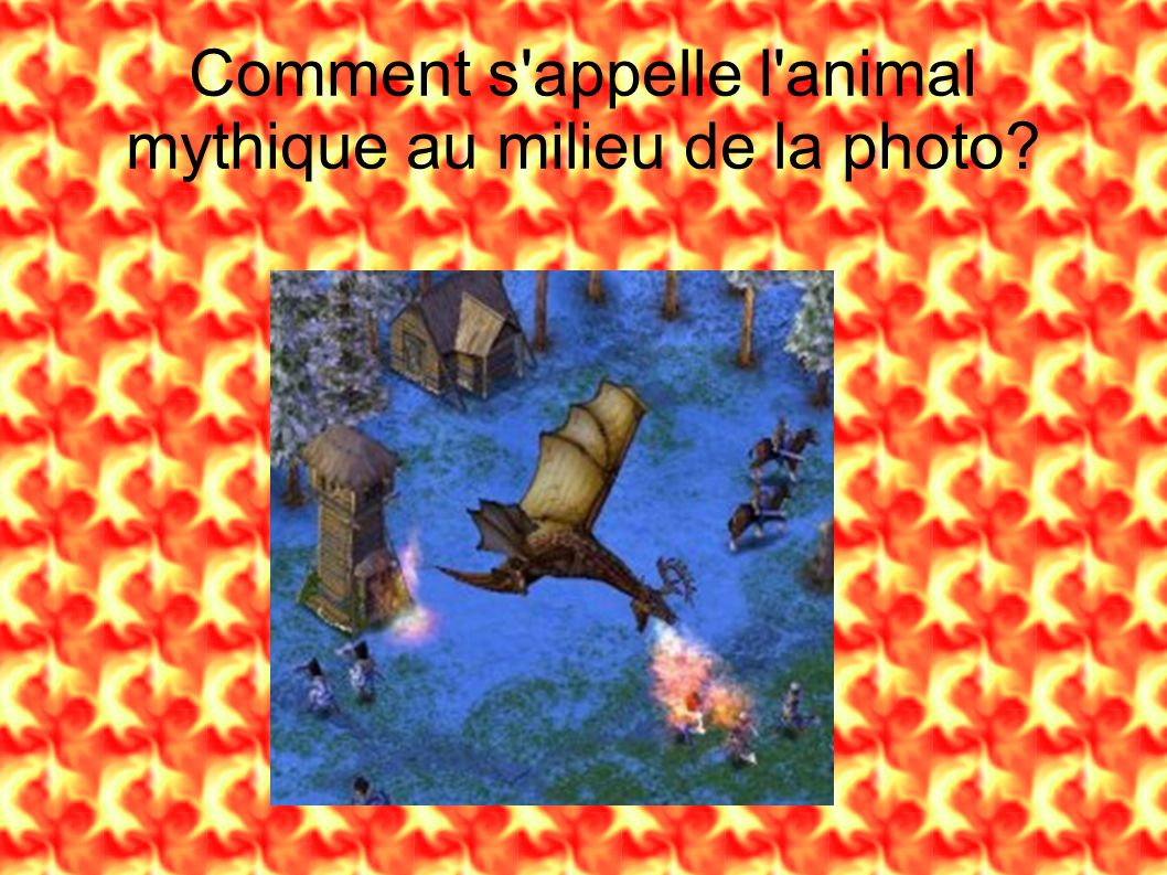 Comment s appelle l animal mythique au milieu de la photo