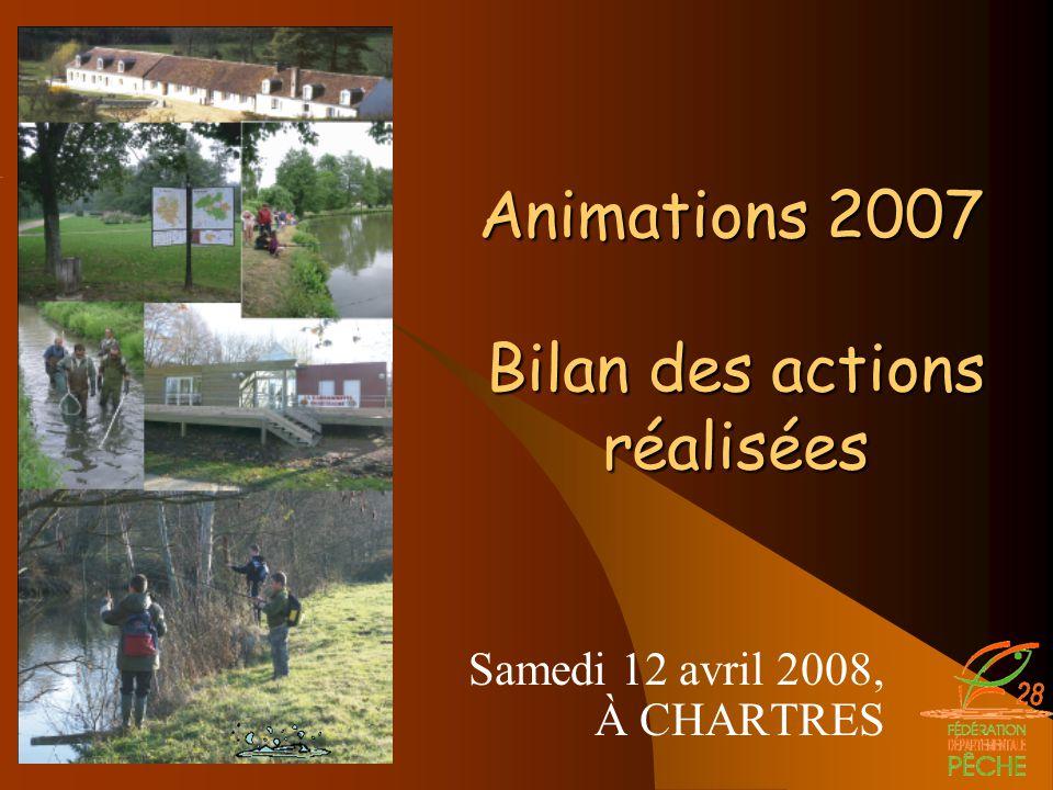 Samedi 12 avril 2008, À CHARTRES Animations 2007 Bilan des actions réalisées Animations 2007 Bilan des actions réalisées
