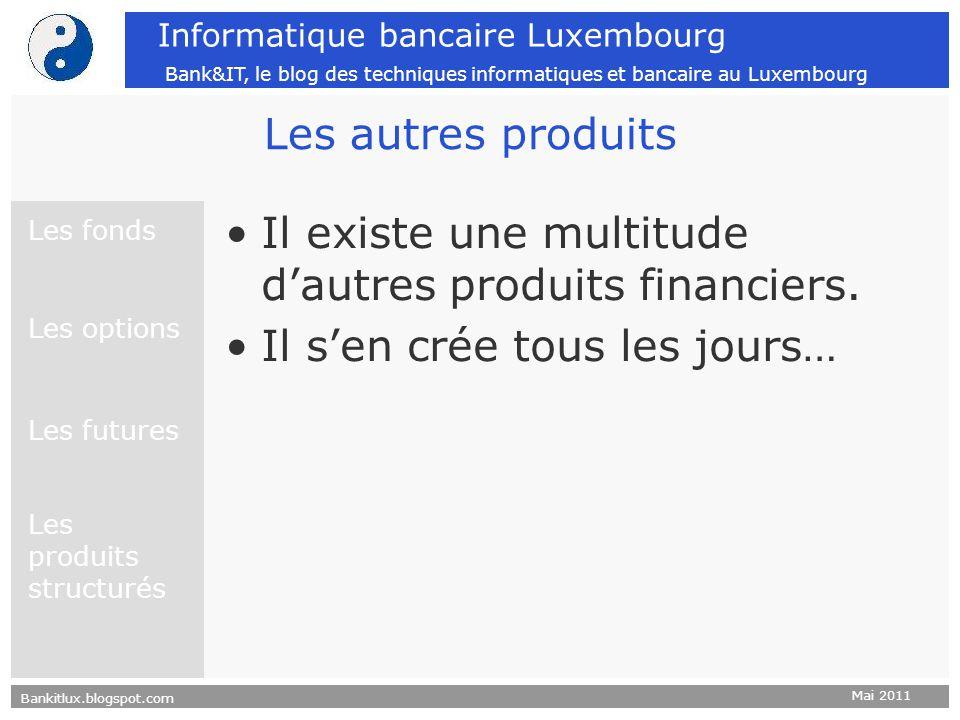 Bankitlux.blogspot.com Mai 2011 Informatique bancaire Luxembourg Bank&IT, le blog des techniques informatiques et bancaire au Luxembourg Les autres pr