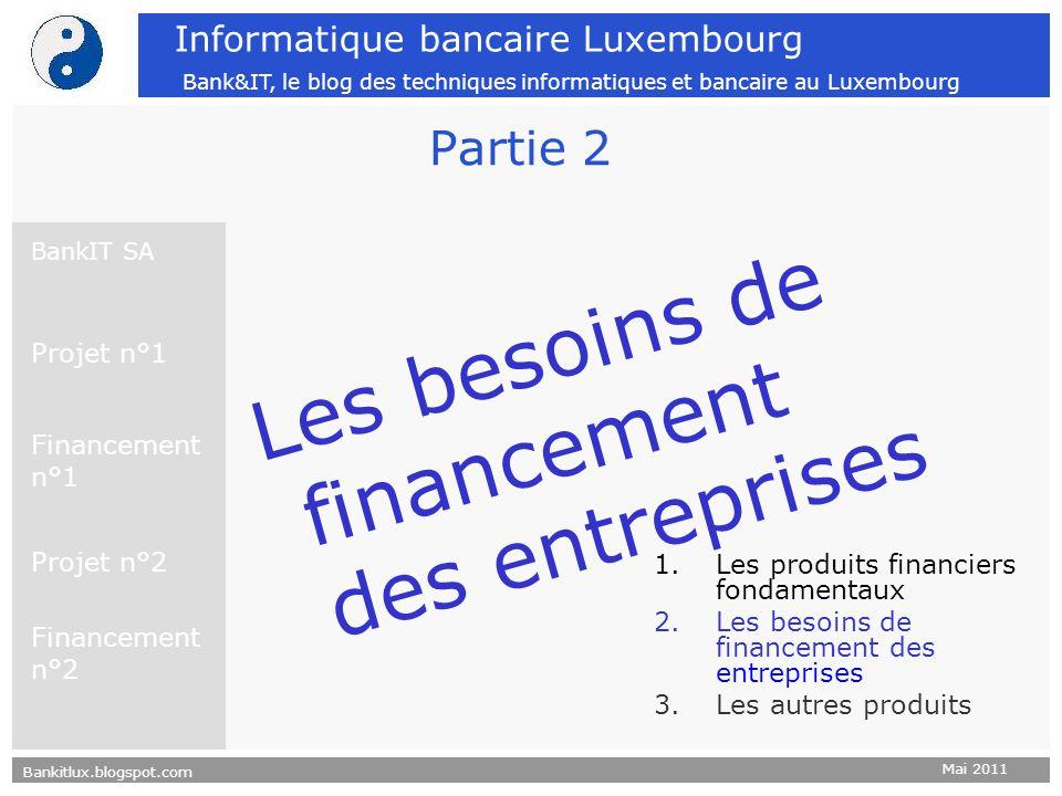 Bankitlux.blogspot.com Mai 2011 Informatique bancaire Luxembourg Bank&IT, le blog des techniques informatiques et bancaire au Luxembourg Partie 2 Les