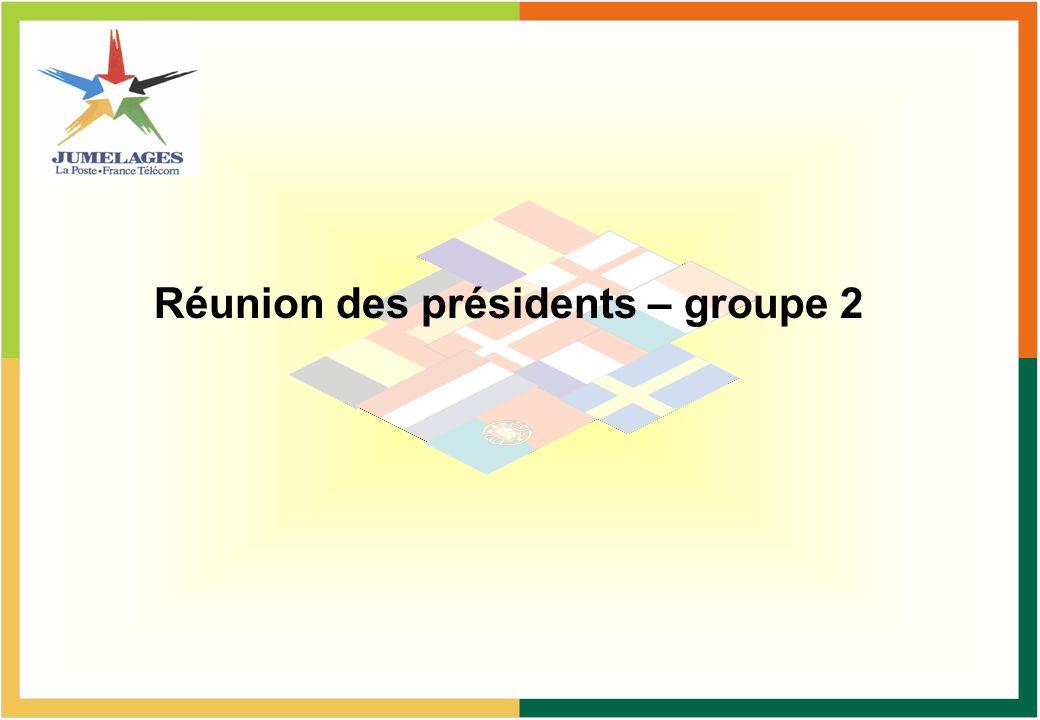 Réunion des présidents – groupe 2