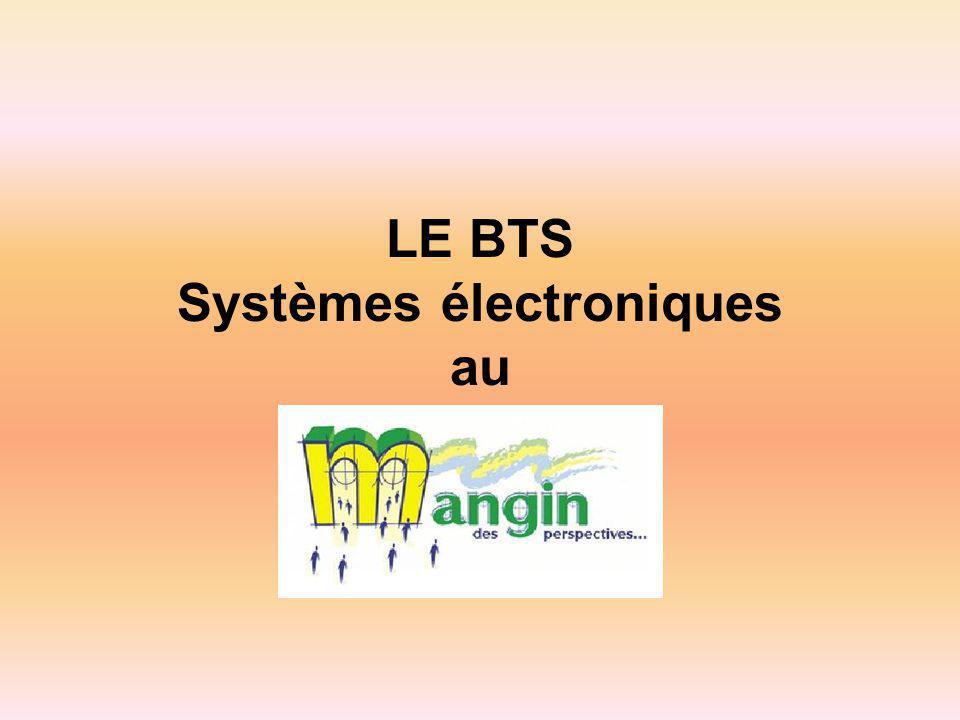 LE BTS Systèmes électroniques au