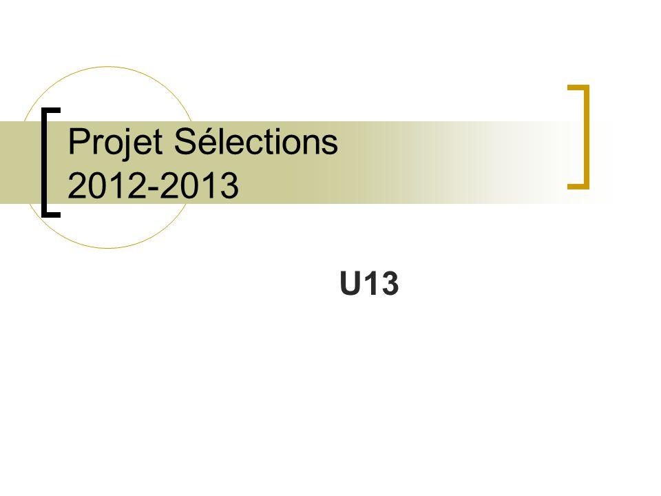 Projet Sélections 2012-2013 U13