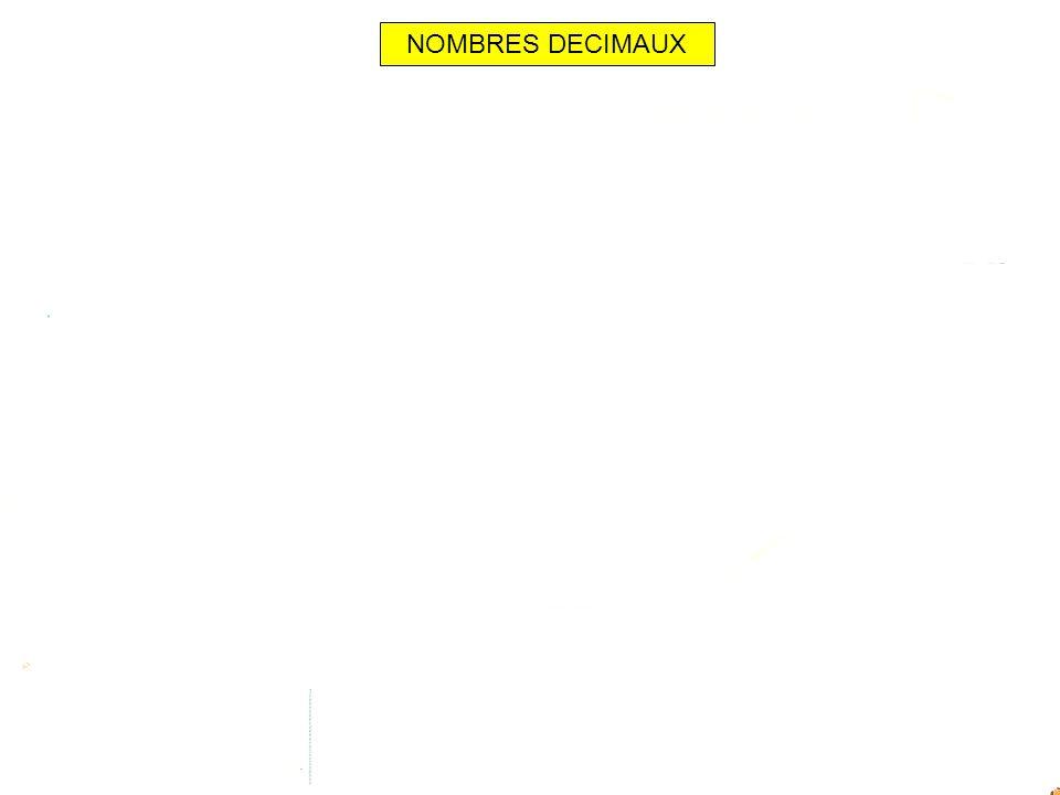 NOMBRES DECIMAUX