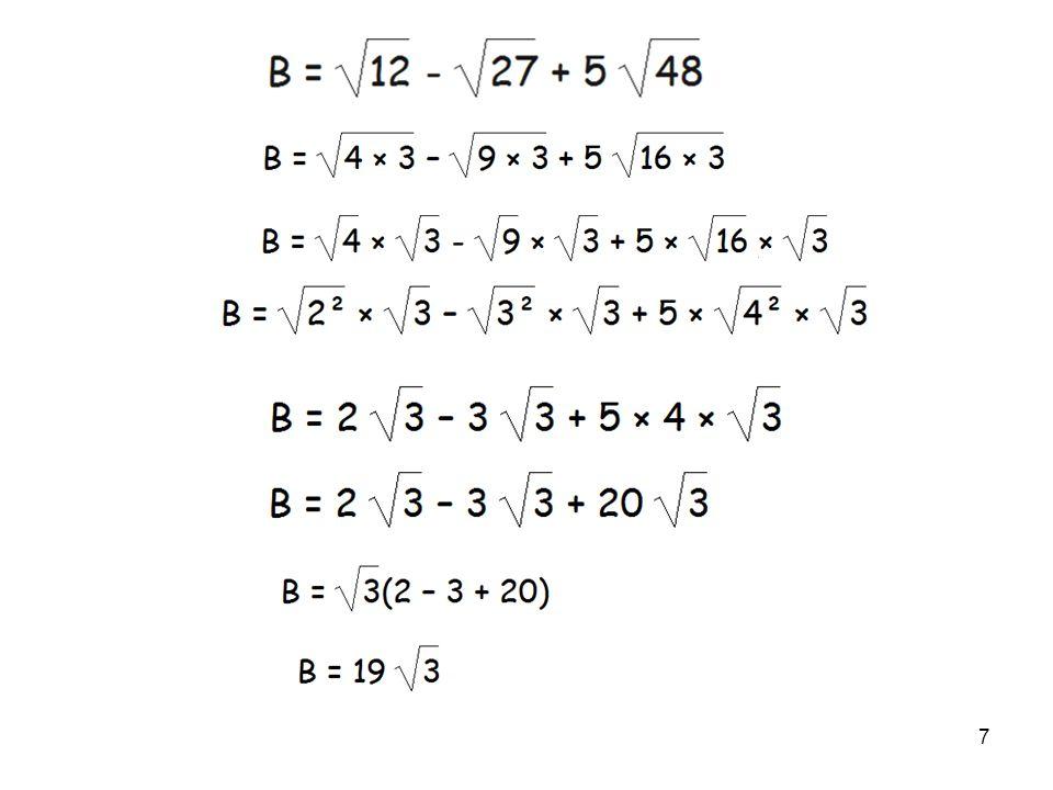 8 Ex4 : Développer une expression comportant des racines carrées
