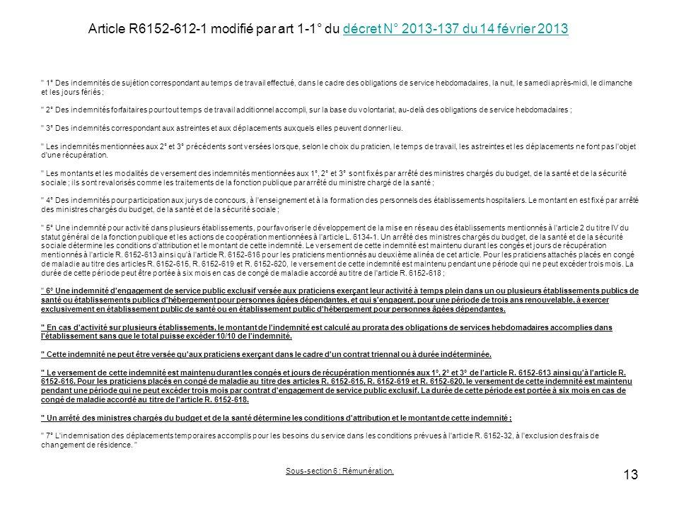 Article R6152-612-1 modifié par art 1-1° du décret N° 2013-137 du 14 février 2013décret N° 2013-137 du 14 février 2013