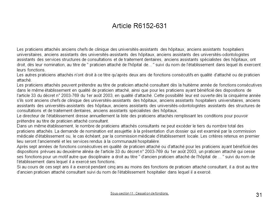 Article R6152-631 Les praticiens attachés anciens chefs de clinique des universités-assistants des hôpitaux, anciens assistants hospitaliers universit