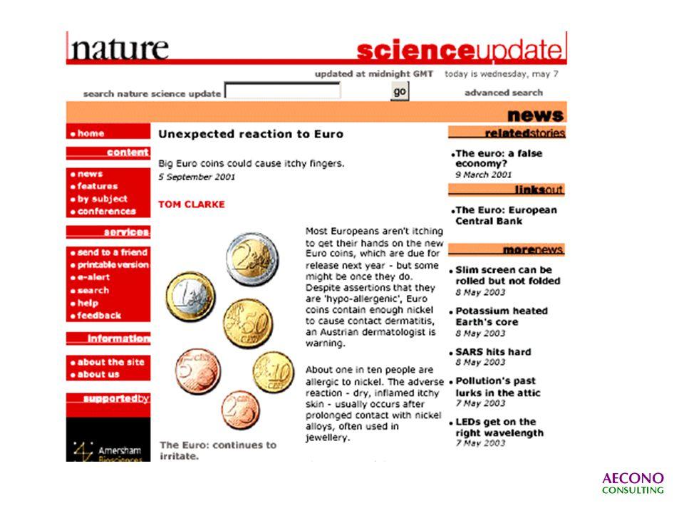 PARIS, 12 sept (AFP) - Des scientifiques français ont mis en cause jeudi une étude suisse publiée dans la revue Nature, selon laquelle les pièces de 1 et 2 euros présenteraient des risques pour les personnes allergiques au nickel.